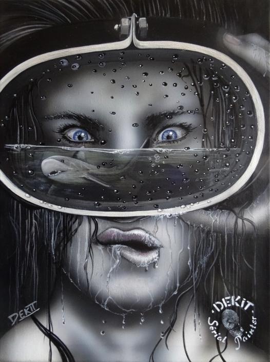 BEBE REQUIN - Acryl 40 X 30 cm - 2020